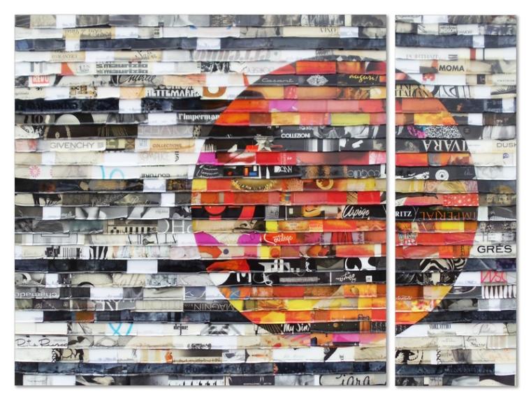 Citta Samtana Diptych 14 by James Verbicky