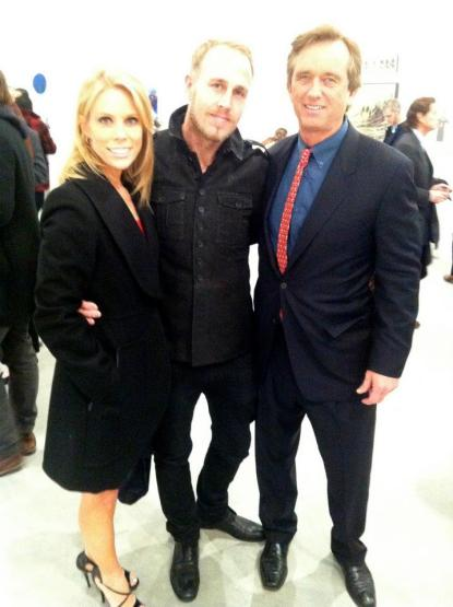 James Verbicky with Robert F. Kennedy Jr. and Cheryl Hines