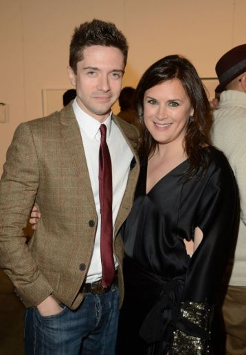 Topher Grace and Art of Elysium founder Jennifer Howell