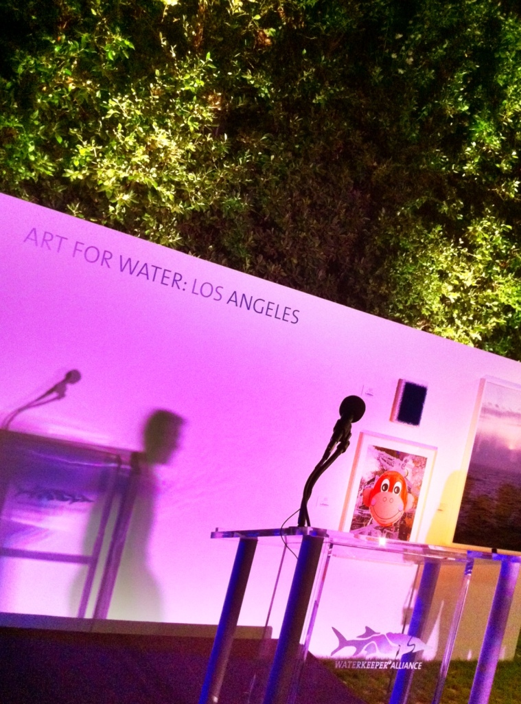 Verbicky original citta samtana diptych on view in Los Angeles at the Christie's moderated auction to benefit the Waterkeeper Alliance.