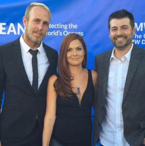 James Verbicky, Lauren Verbicky, and Matt Devine at the 2015 SeaChange Summer Party in Dana Point, CA.